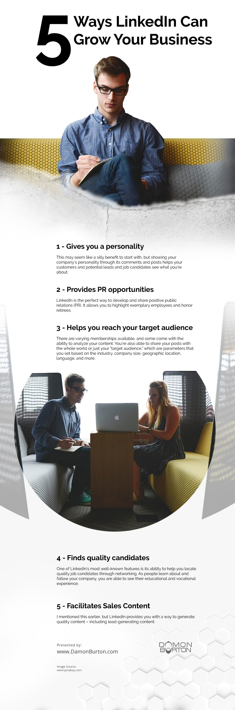 5 Ways LinkedIn Can Grow Your Business [infographic]