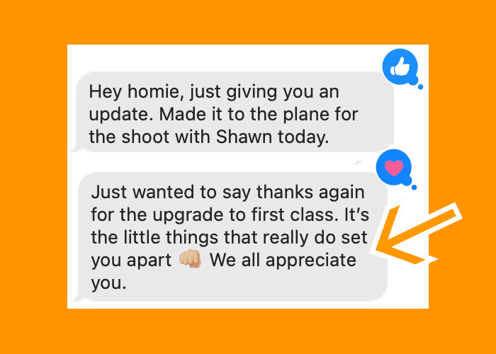Upgrade someone else to first class? Why not!