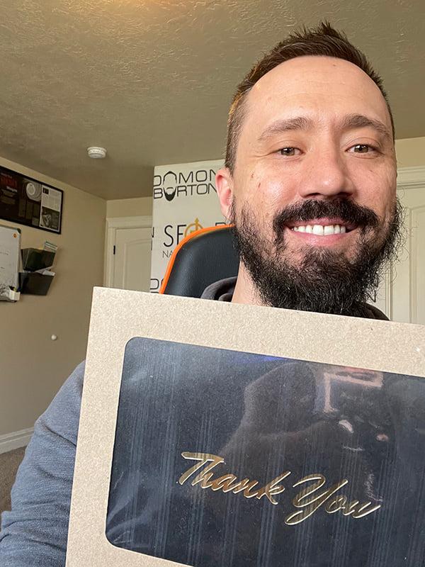 I send a hand-written thank you cards
