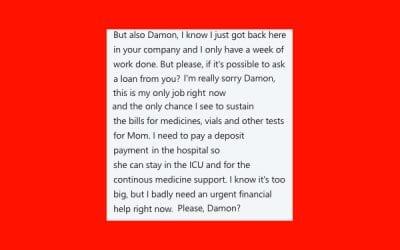 Why I Don't Lend Money