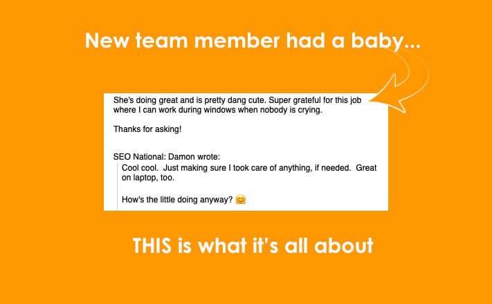 New team member had a new baby