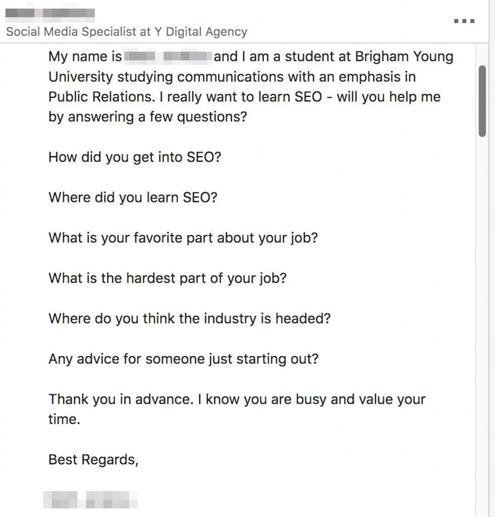 LinkedIn SEO questions