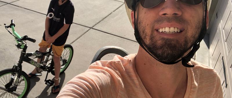 biking with my son