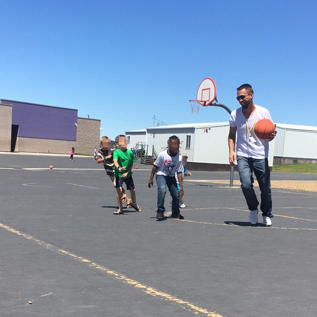 basketball at my son's school
